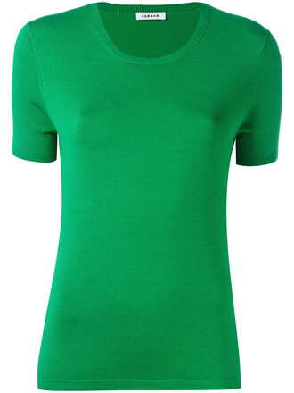 top knitted top women spandex silk green