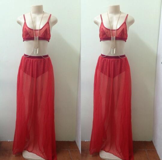 Lethalbeauty ? two piece maxi skirt set