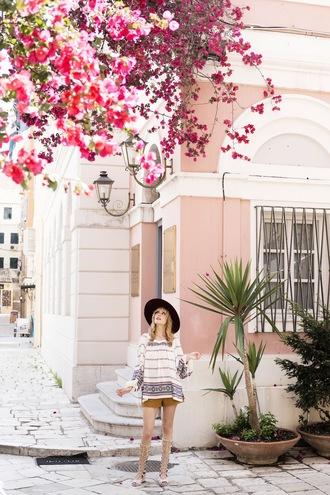 miss pandora blogger blouse shorts boho shirt h&m