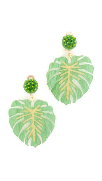 Mercedes Salazar Carmen Miranda Clip On Earrings - Green