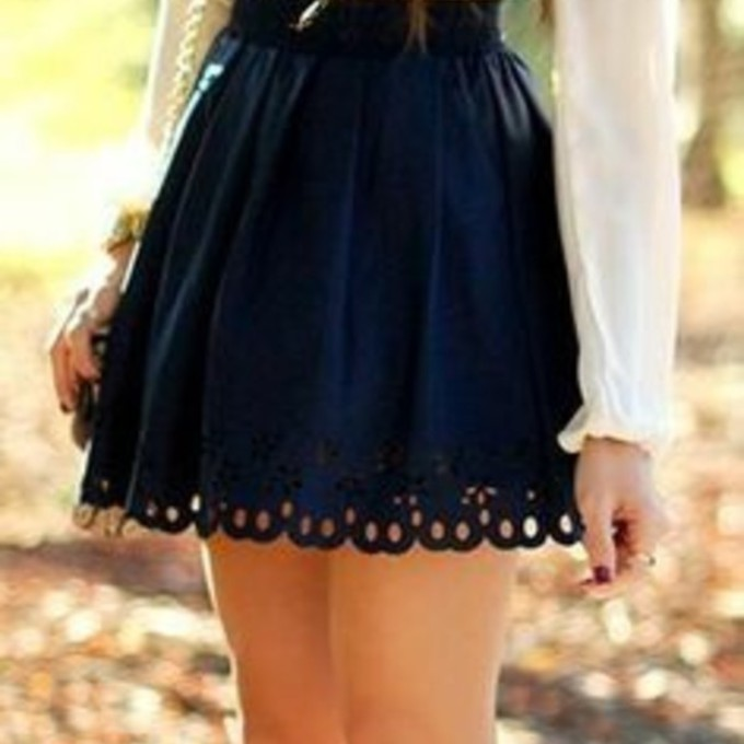 skirt blouse blue belt pretty dress shirt white high