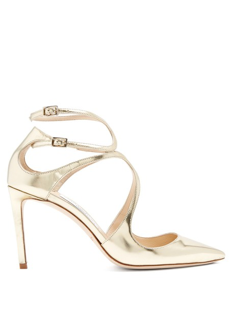Jimmy Choo pumps leather gold shoes