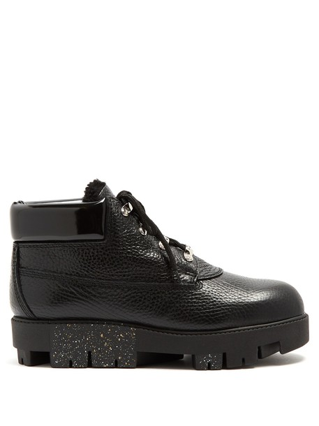 Acne Studios leather ankle boots ankle boots leather black shoes