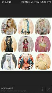 nicki minaj crew neck