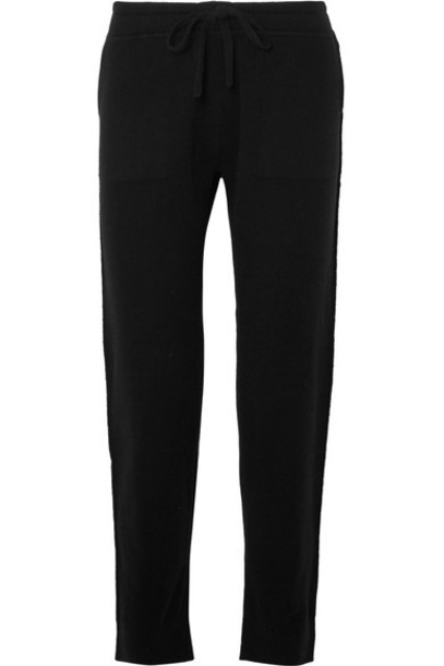 Vince pants track pants black wool