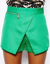 shorts,skorts,skirt,green