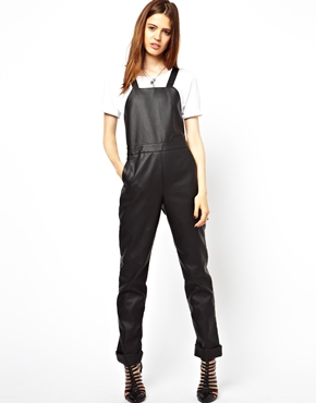 ASOS | ASOS Overalls in Leather Look at ASOS