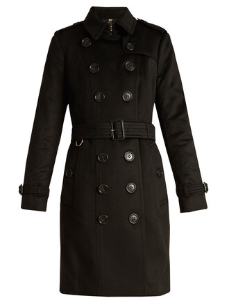 coat trench coat long black