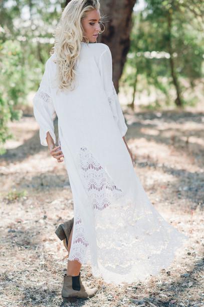 88c3787d56 underwear, kimino, kimono, white kimono, lace kimono, white lace ...