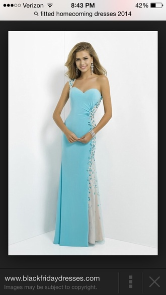 prom dress baby blue one shoulder dress dress elegant fashion simple dress long prom dress