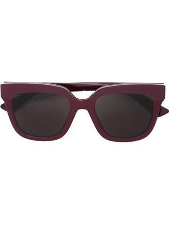 women soft sunglasses red