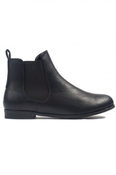 shoes ankle boots boots flat boots black boots chelsea boots