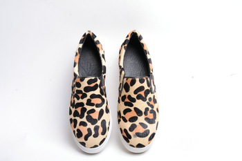 new leopard fur genuine leather sneakers flats heels woman fashion shoes Euro sizes design-in Flats from Shoes on Aliexpress.com | Alibaba Group