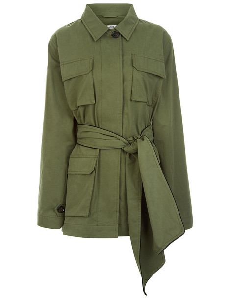 d5d144d38 Ganni Fabre Cotton Army Jacket in green