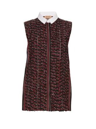 shirt sleeveless shirt sleeveless burgundy top