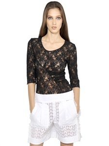 Stretch dentelle lace sweater