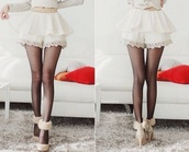 shoes,white high heels,fluffy