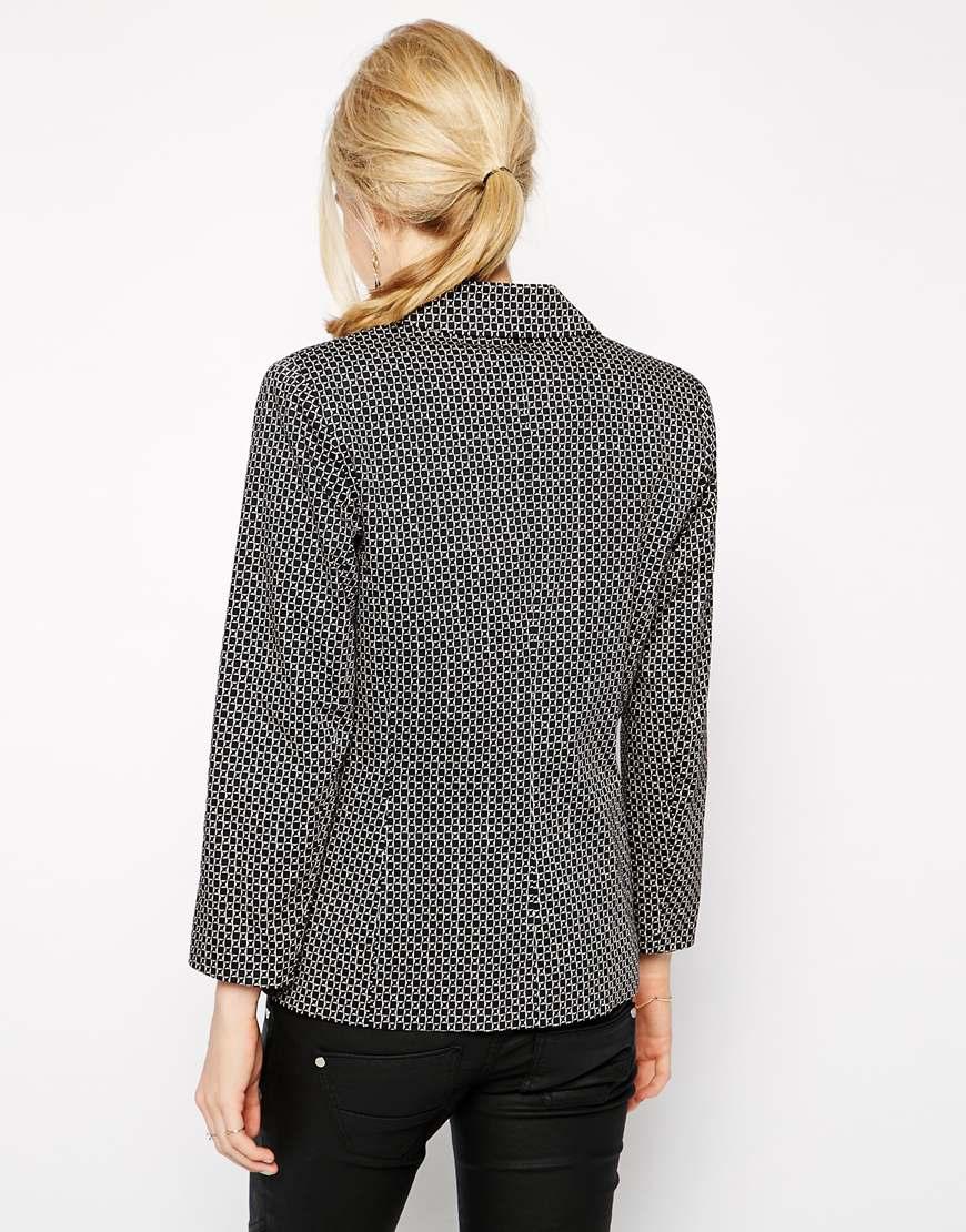 Oasis printed blazer at asos.com