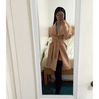 coat trench coat loose fit