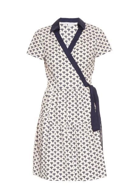 Diane Von Furstenberg dress navy white