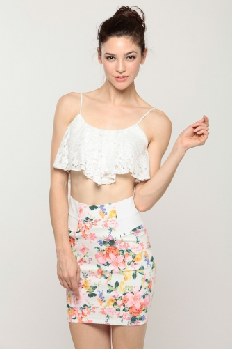 Crochet lace cropped cami cicihot top shirt clothing for Best dress shirts online