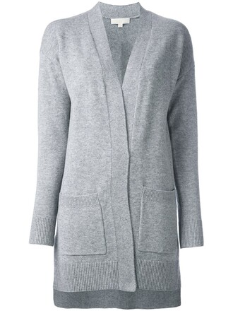 cardigan long women mohair grey sweater