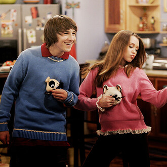sweater clothes pink cats hannah montana miley cyrus