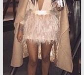 skirt,ostrich feathers,feather skirt,short skirt