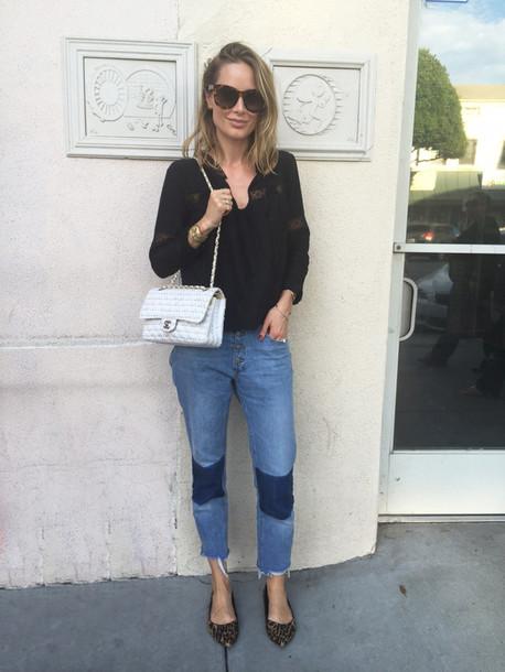 anine'sworld blogger sunglasses blouse jewels bag
