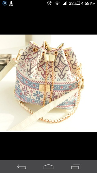 bag colorful patterns medium length