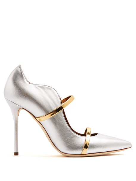 MALONE SOULIERS pumps leather gold silver shoes