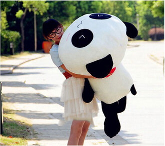 skirt panda korea stuffed animal oversized love