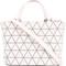 Bao bao issey miyake - crystal matte cross body bag - women - polyurethane - one size, pink/purple, polyurethane