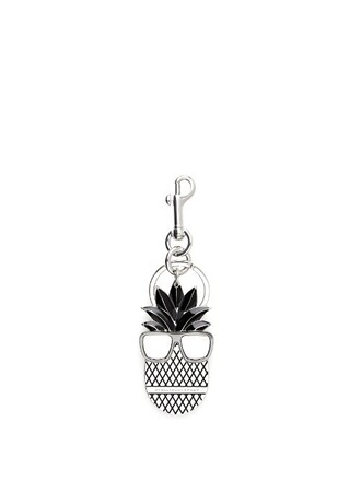 pineapple ring silver black jewels