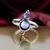 Nihilist Black Pearl & Moonstone Ring