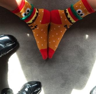 socks funny easy comfy stylish cool weird. sexy hamburger cara dd weirdo