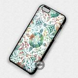 Damask Pattern Flower - iPhone 7 6S SE 4 Cases & Covers