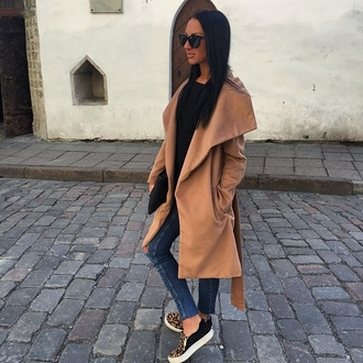 coat camel coat beige style fashion oversized