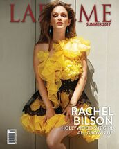 dress,yellow,yellow dress,ruffle,ruffle dress,rachel bilson,editorial,gown,prom dress,one shoulder
