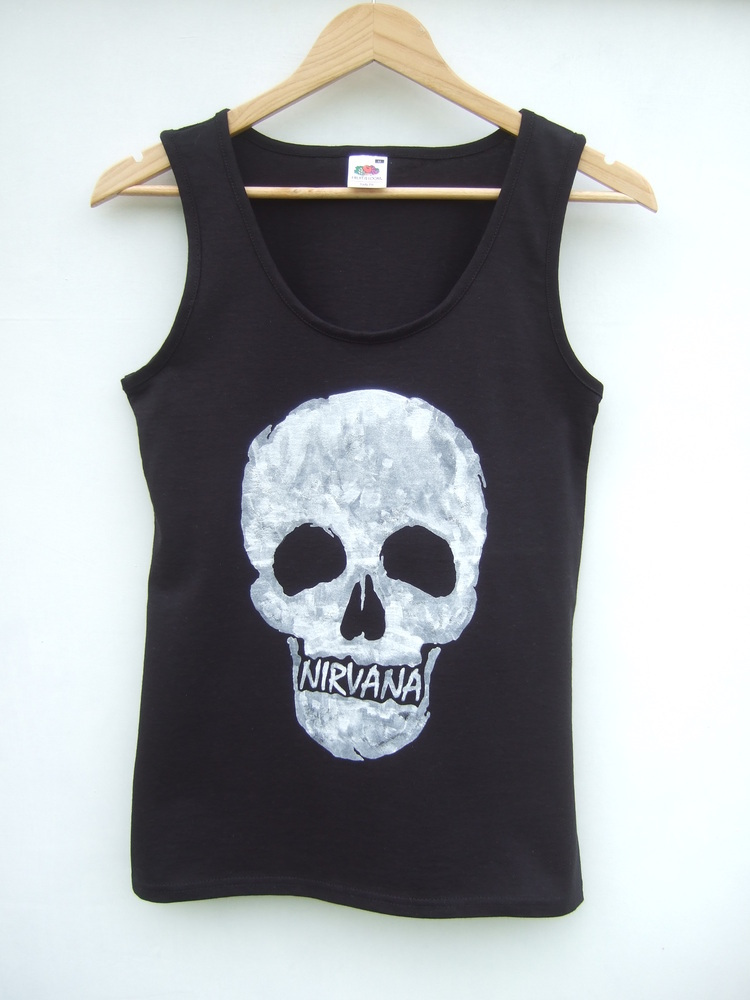 Tappington and wish — nirvana skull vest tank