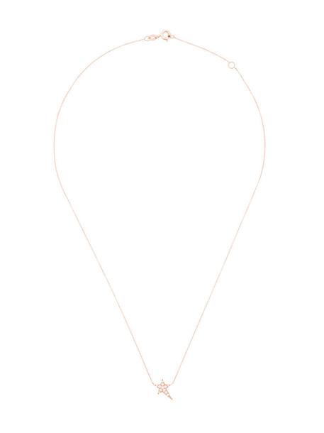 Diane Kordas rose gold rose women necklace diamond necklace gold grey metallic jewels