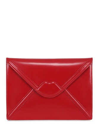 envelope clutch lips clutch red bag