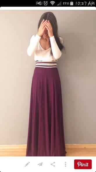 skirt burgundy skirt maxi skirt