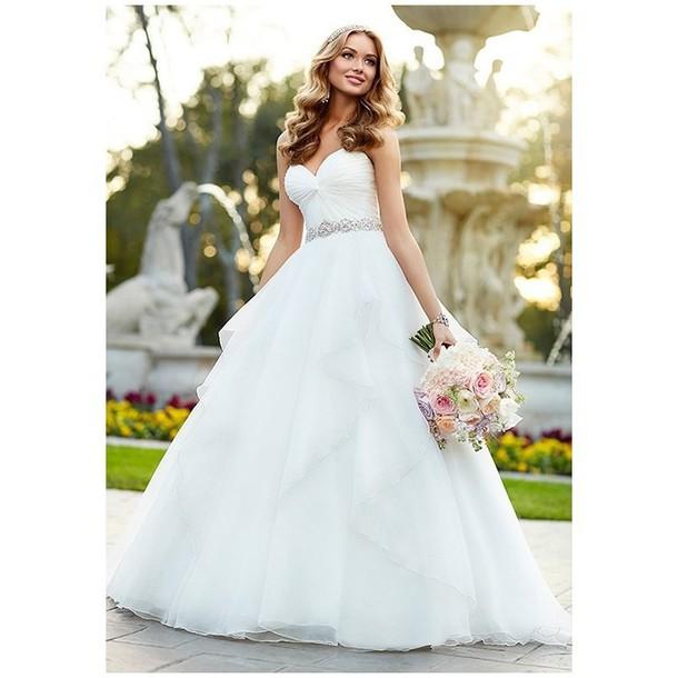 72b6bf286509 dress glasses stella ballet flats natural makeup look gown wedding dress
