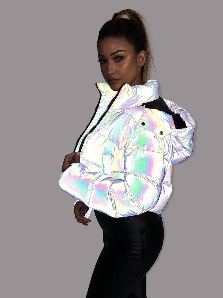 Galaxy Reflective Puffer Jacket