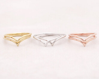 jewels ring chevron 18ct gold dainty