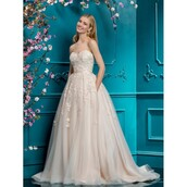 dress,customized,blush,wedding dress