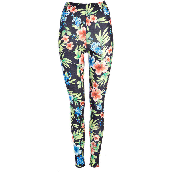 Black Tropical Legging - Wallis - Polyvore
