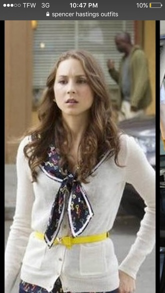 cardigan spencer hastings pretty little liars white