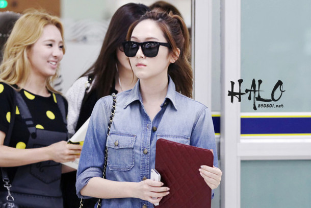 Sunglasses Wayfarer Jessica Snsd Girls Generation Black Oversized K Pop